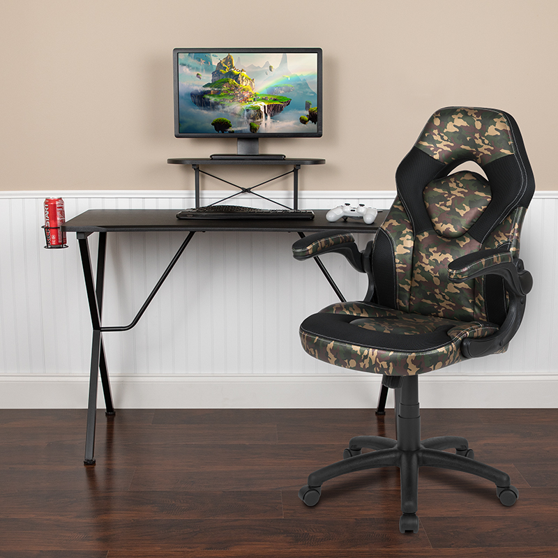 Black Gaming Desk & Chair Set BLN-X10RSG1031-CAM-GG