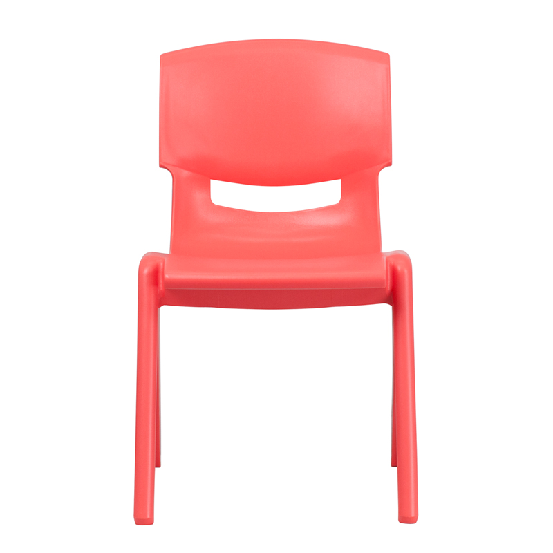 Red Plastic Stack Chair YU-YCX-005-RED-GG
