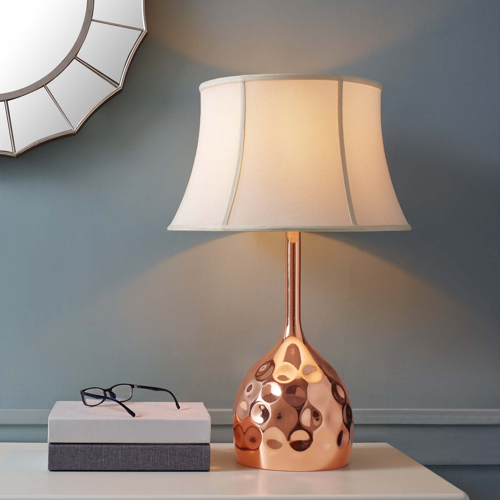 Dimple Rose Gold Table Lamp  EEI-3081