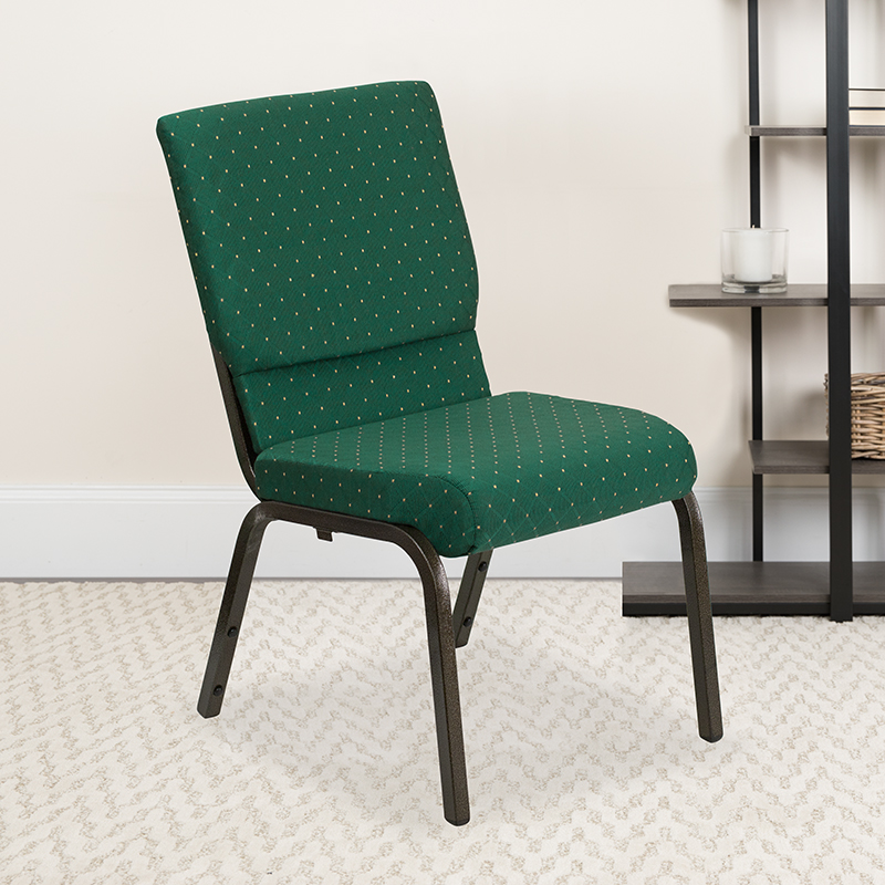 Green Fabric Church Chair XU-CH-60096-GN-GG