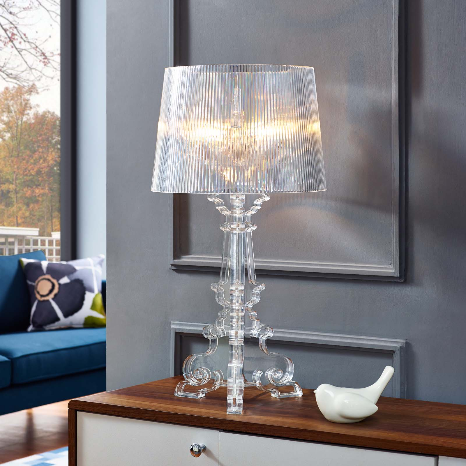 French Grande Table Lamp Clear EEI-2908-CLR