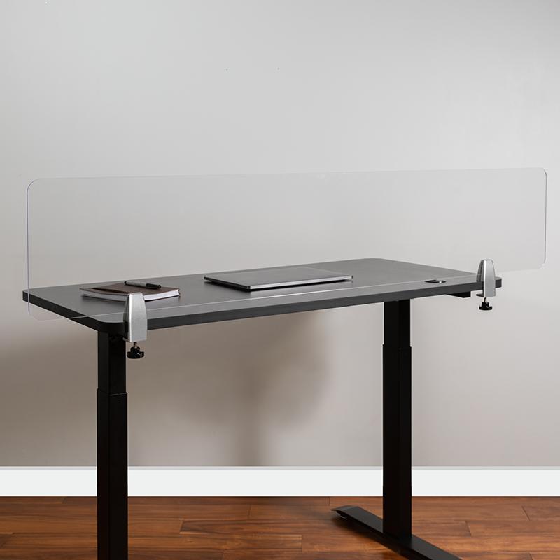 Clear Acrylic Desk Partition BR-DDIA-30152-GG