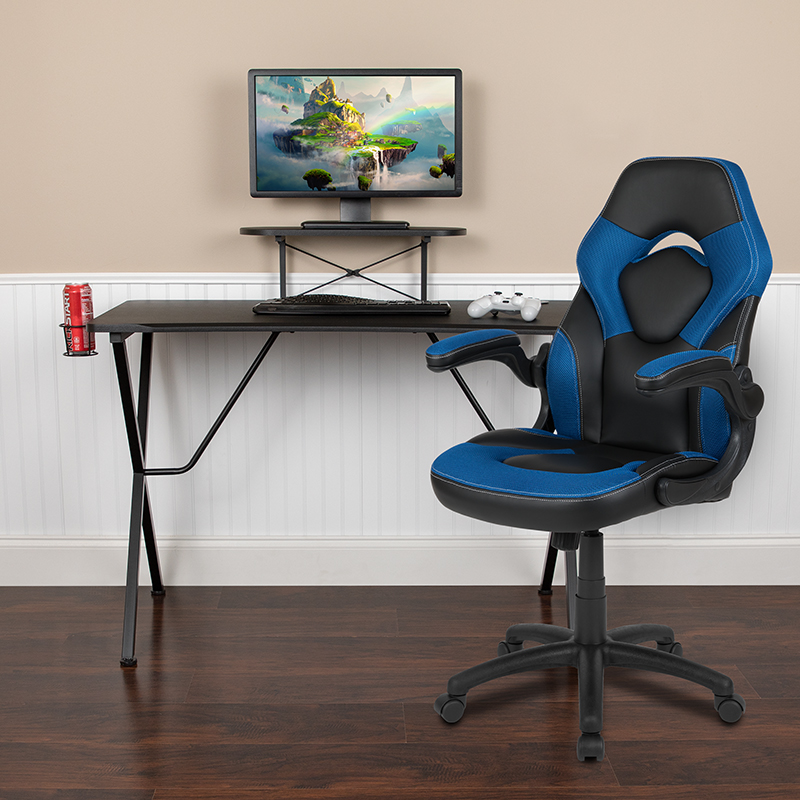 Black Gaming Desk & Chair Set BLN-X10RSG1031-BL-GG